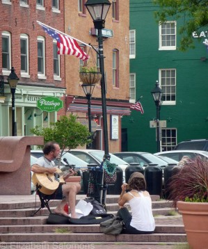 Busker in Fells Point