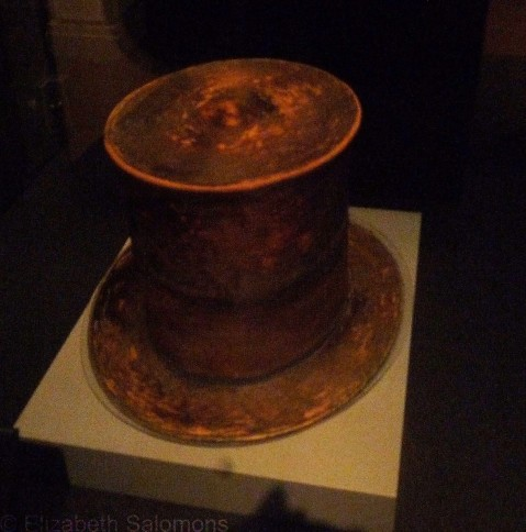 The hat worn by Abraham Lincoln the night he was assassinated