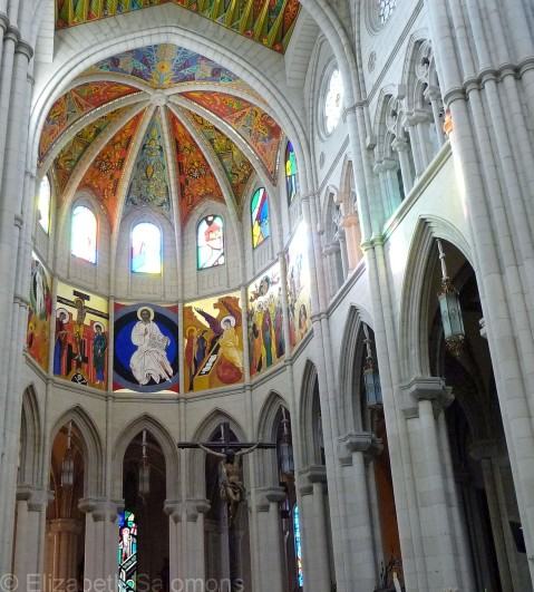 Interior, Santa María la Real de La Almudena, Madrid, November 2010