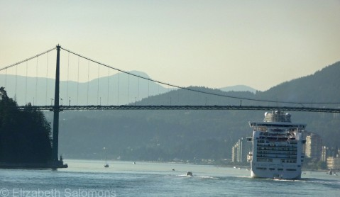 Cruise Ship and Bridge