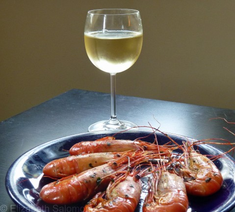 Prawns and Chardonnay