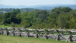 General Robert E. Lee led his Confederate soldiers north into Pennsylvania alongside those hills in the distance.