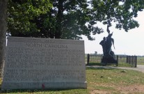 Many of the monuments in Gettysburg Park were erected by veterans or their descendants.