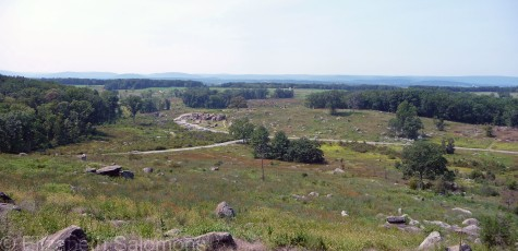 Looking down from Little Round Top, which was the southern end of the Union line.