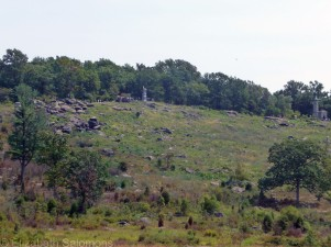 This was the view the Confederate soldiers had as they attempted to take Little Round Top.