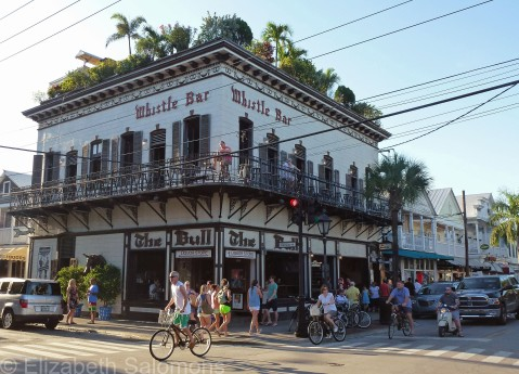 A bar on every corner along Duval Street ― check out all the foliage on the roof