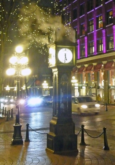 Gastown Steam Clock Night