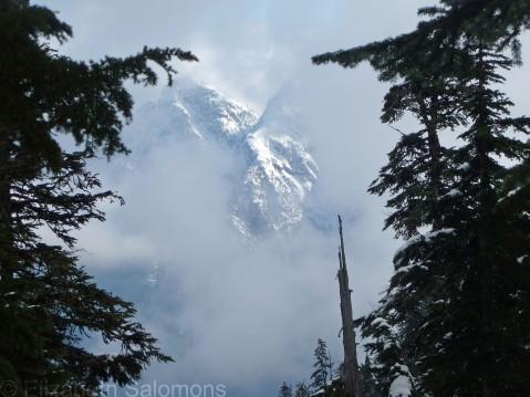 Fog on Mount Strachan
