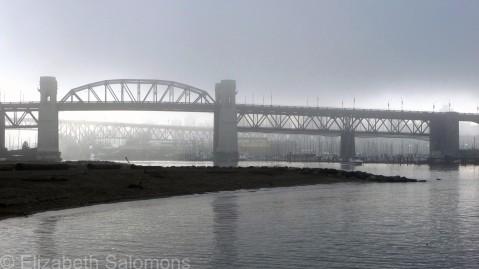 Burrard Bridge in Fog
