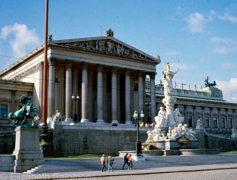 The Austrian Parliament Building is one of the largest buildings on the Ringstrasse.