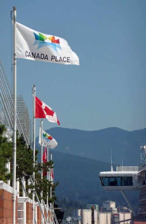 Flags at Canada Place