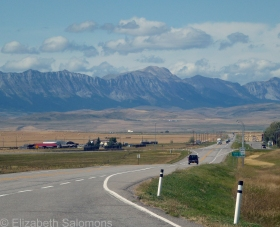The Crowsnest Highway near Pincher Creek, Alberta