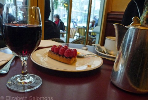 Wine, Tea and Raspberry Flan