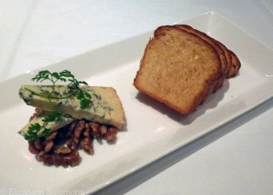 Stilton with Candied Nuts and Toasted Brioche
