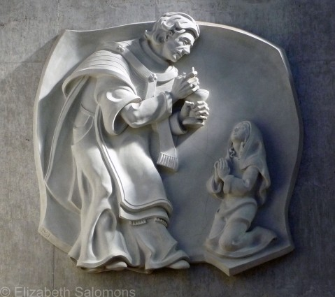 Mission Abbey Bas Relief