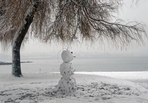 English Bay Snowman