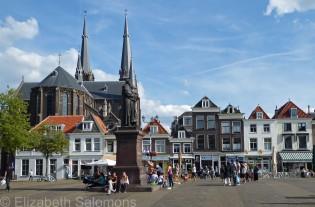 Delft Grote Markt and Kerk